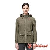【wildland 荒野】女 SUPPLEX透氣50+抗UV外套『橄欖綠』0A91901 運動 露營 登山 吸濕 排汗 快乾