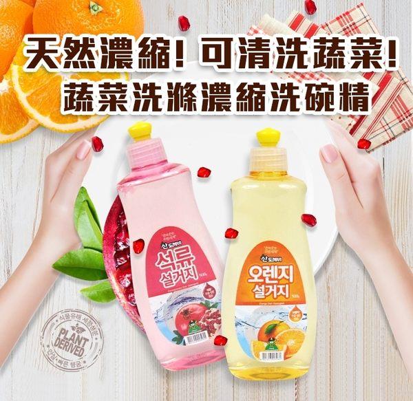 【Miss Sugar】韓國 小鬼怪果漾濃縮蔬菜洗滌洗碗精 500ml