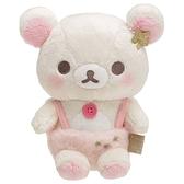 小禮堂 懶懶熊 牛奶熊 絨毛玩偶 絨毛娃娃 小型玩偶 布偶 (S 米粉 天使) 4974413-78006