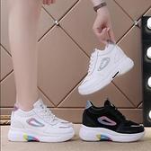 增高鞋 內增高女鞋2020春季新款網面透氣運動鞋小白鞋女式厚底網紅老爹鞋