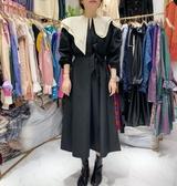 不規則洋裝  2019秋季新款女裝個性不規則娃娃領寬鬆長袖洋裝【全館免運】