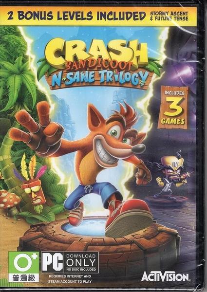 現貨中 PC遊戲 袋狼大進擊 瘋狂三部曲 Crash Bandicoot 英文版【玩樂小熊】