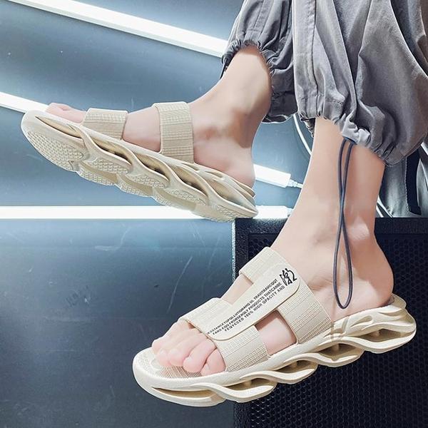 拖鞋男夏季潮流外穿網紅超火越南沙灘涼拖鞋夏天室外休閒一字涼鞋 韓國時尚週