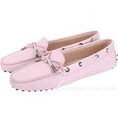 TOD'S Gommino 經典綁帶休閒豆豆鞋(女鞋/粉紫色) 1820081-47