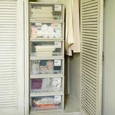天馬收納箱衣柜收納盒抽屜式衣物塑料整理箱衣服透明收納抽屜柜子 LP