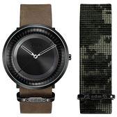 【台南 時代鐘錶 ODM】SOLAR 太陽系列 俐落放射線條時尚腕錶 DD170-02 快拆錶帶 黑 44mm