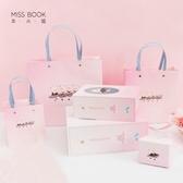 禮袋本小姐 趣味小豬禮盒禮袋 節日禮物包裝盒 彩色新年禮品手提紙袋-凡屋