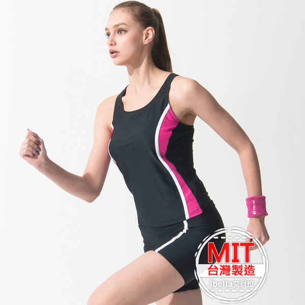 二件式泳裝MIT台灣製造背心泳衣泳褲美國杜邦萊卡【36-66-818111-18】ibella 艾貝拉