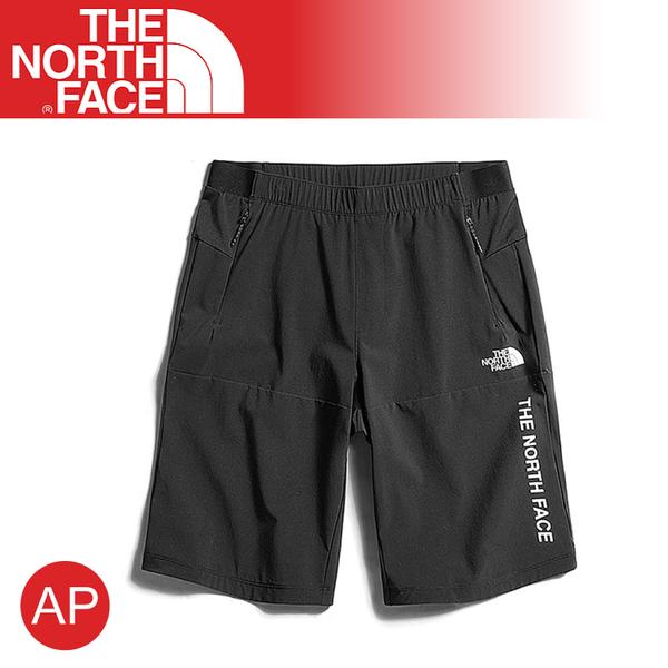 【The North Face 男 防潑水短褲《黑》】3V6G/運動褲/慢跑褲/排汗透氣/跑步/登山健行