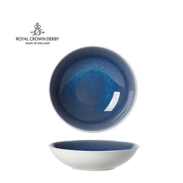 英國Royal Crown Derby-Art Glaze藝術彩釉系列-22.5CM義式餐碗-滄藍