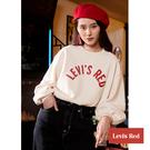 Levis Red 工裝手稿風復刻再造 女款 重磅大學T / Oversize寬鬆版型 / 460GSM厚棉