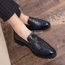 韓版尖頭小皮鞋男內增高漆皮英倫百搭男鞋休閒結婚潮流發型師鞋子 設計師生活百貨