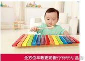兒童手敲琴 十五音敲琴兒童音樂早教寶寶益智玩具敲打玩具1-2-3-6歲  晶彩生活