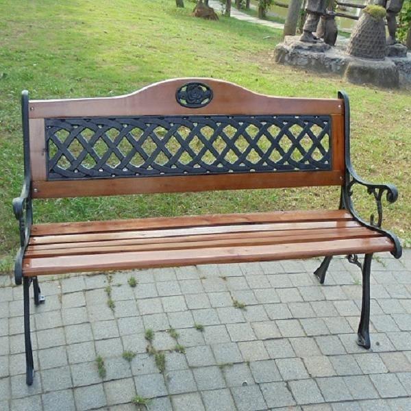 【南紡購物中心】BROTHER兄弟牌花網雙人鑄鐵公園椅