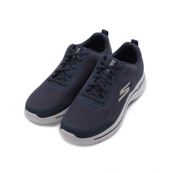 SKECHERS 健走系列GO WALK ARCH FIT 綁帶運動鞋 藍 216116NVGD 男鞋