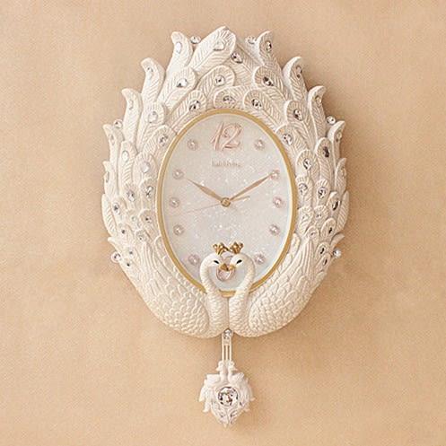 掛鐘 海之星歐式掛鐘客廳鐘錶創意時尚靜音藝術簡約時鐘豪華掛錶T 免運直出