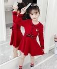 洋裝女童連身裙秋裝新款洋氣韓版小女孩學院風棉布長袖裙子春秋款 快速出貨