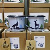 馬克杯-波蘭emalco森林彩繪琺瑯馬克對杯一組2個