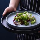 餐碟北歐黑色牛排盤西餐盤子陶瓷深菜盤平盤家用圓形大號創意個性碟子【快速出貨】