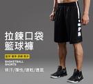 現貨 運動短褲 拉鍊口袋籃球褲 黑白款 ...