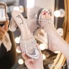 涼鞋 法式復古水晶高跟鞋女2020夏天新款韓版網紅百搭露趾仙女時裝涼鞋 愛丫愛丫