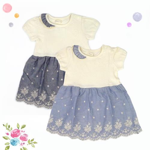 女童洋裝 / 日系 / 蕾絲 / 蕾絲裙擺洋裝 -日本Milkiss