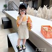 女童牛仔吊帶裙2021夏季新款童裝兒童裙子韓版夏裝小童公主裙夏天 米娜小鋪