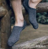 5雙裝船襪男純色高中低筒淺口男士襪子硅膠防滑原宿風 隱形襪    琉璃美衣