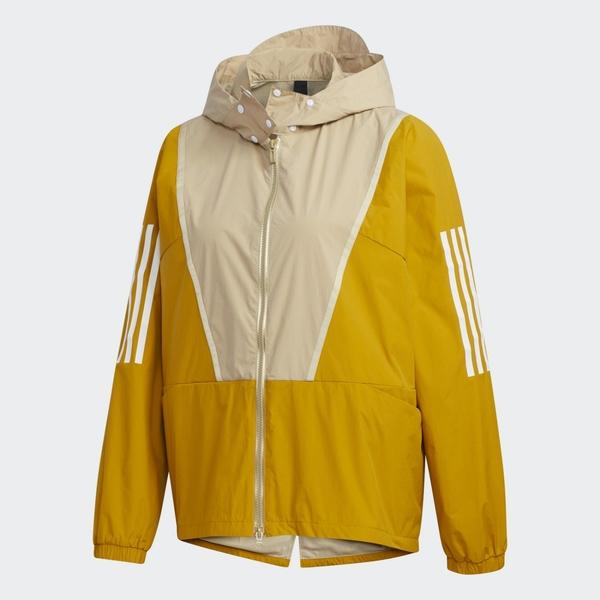Adidas MHS WD JKT 女款黃色連帽外套-NO.GF6960