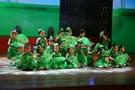 兒童演出服 小草錶演服低碳貝貝舞蹈服裝幼兒園兒童環保主題舞蹈演出服 夢藝家