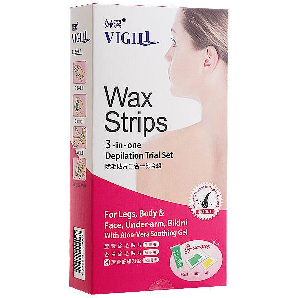 VIGILL 婦潔 Wax Strips 除毛貼片三合一綜合組【七三七香水精品坊】