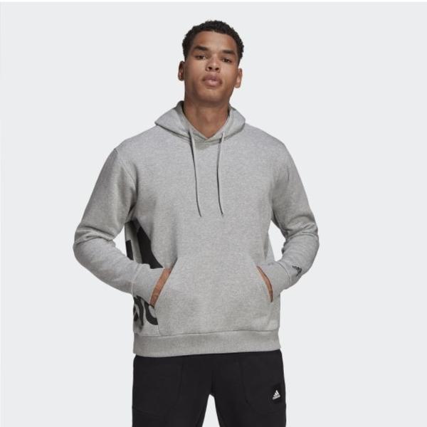 Adidas Big Badge of Sport 男款灰色休閒長袖帽T-NO.GC7287
