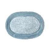 超纖簡約橢圓踏墊 40x60cm 藍色款
