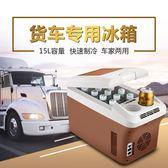 220V   車載冰箱家車兩用迷你小冰箱24V貨車專用15升12V大容量制冷冷藏YYP    蜜拉貝爾
