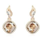 水晶耳環 925純銀(耳針式)-優雅鑲鑽生日情人節禮物女飾品4色73bd86【時尚巴黎】