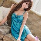 睡衣 性感睡衣 性感嫵媚寶藍花漾柔緞情趣...