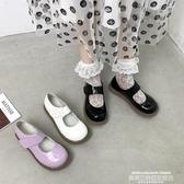 娃娃鞋2019新款ins小皮鞋女復古百搭軟妹厚底魔術貼Lolita大頭娃娃單鞋 聖誕交換禮物