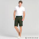 【GIORDANO】男裝COOLMAX 涼感多口袋休閒短褲