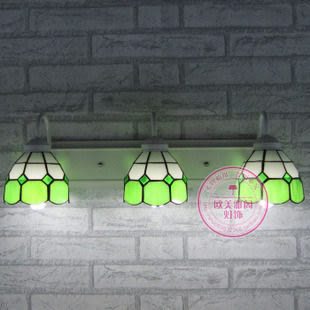 設計師美術精品館壁燈蒂凡尼三頭壁燈 歐式床頭臥室燈簡約燈鏡前燈地中海