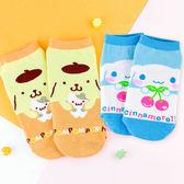 三麗鷗系列直版襪親子襪 大耳狗+布丁狗 短筒襪 短襪 童襪 卡通印花襪 成人襪