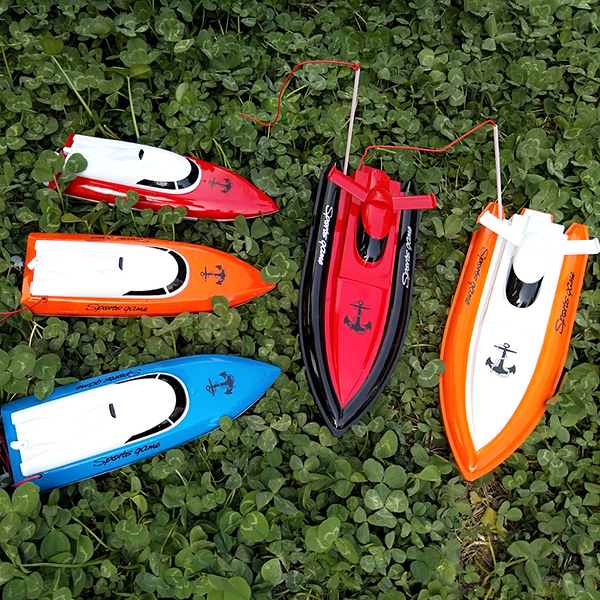 控船玩具高速快艇男孩玩具船水上快艇模型游?艇拉网 【免運】