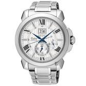 王力宏廣告款 SEIKO精工 Premier 萬年曆時尚腕錶(銀/43mm) SNP139J1/7D56-0AE0S
