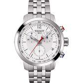 NBA SPECIAL EDITION TISSOT 天梭 T-Sport PRC200 NBA特別版計時手錶-銀/42mm T0554171101701
