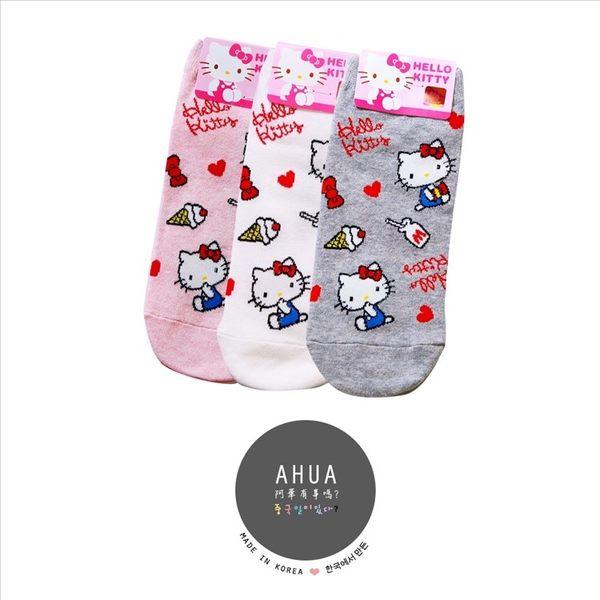 韓國品牌襪子 滿版HELLO KITTY小圖案短襪❤️短襪長襪絲襪隱形襪 運動復古 文青情侶 阿華有事嗎