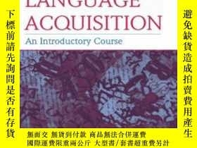 二手書博民逛書店Second罕見Language Acquisition: An