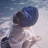 太陽帽女夏季出游防嗮海邊遮陽帽可折疊空頂帽子時尚百搭大檐草帽 全館免運
