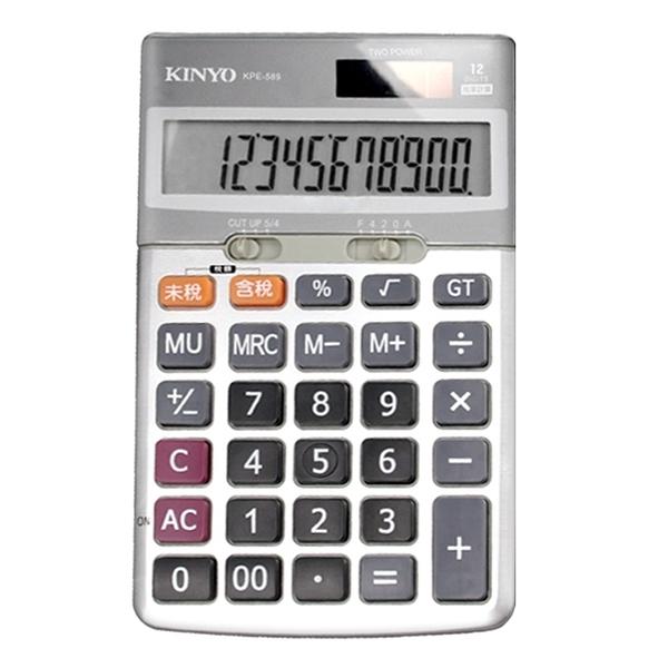 【超人生活百貨】KINYO 桌上型稅率12位元計算機 含稅、未稅稅率計算 KPE-589
