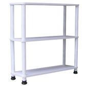 【頂堅】三層長管-置物架/收納架-寬80x深24公分-二色可選素雅白色
