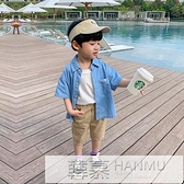 男童牛仔襯衫短袖純棉小童上衣帥氣百搭兒童夏季襯衣薄款寶寶夏裝 夏季新品