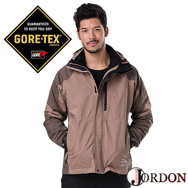 【Jordon 橋登】男GORE-TEX二件式外套『鐵/深咖啡』1071 防風.防水.保暖.兩件式外套